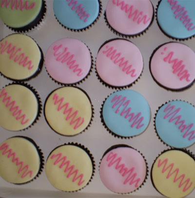 Birthday cupcakes.